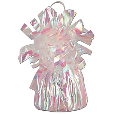 Metallic Wrapped Balloon Weight, Each Photo/Balloon Weight Weighs 6 Ounces, Opalescent, 14/Pack