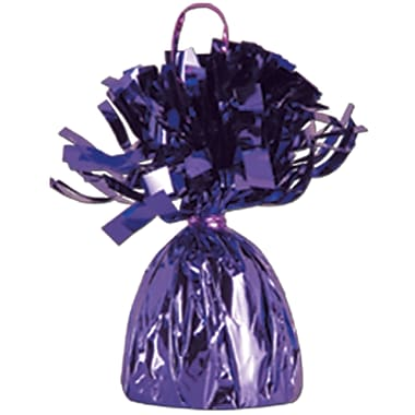 Metallic Wrapped Balloon Weight, Each Photo/Balloon Weight Weighs 6 Ounces, Purple, 14/Pack