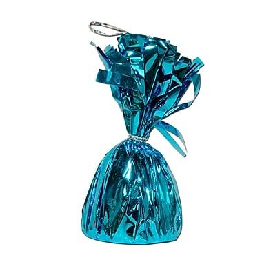 Metallic Wrapped Balloon Weight, Each Photo/Balloon Weight Weighs 6 Ounces, Turquoise, 14/Pack
