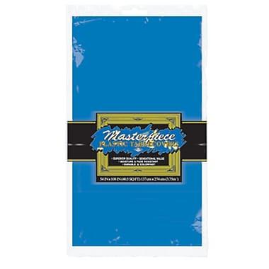 Nappe ronde en plastique, 84 po, bleu moyen, paquet de 4