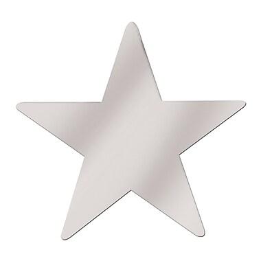 Découpe d'étoile géante en aluminium, 20 po, argenté, paquet de 5