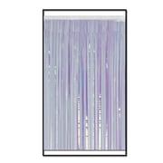 "2-Ply Flame Resistant Metallic Fringe Drape, 15"" x 10', Opalescent"