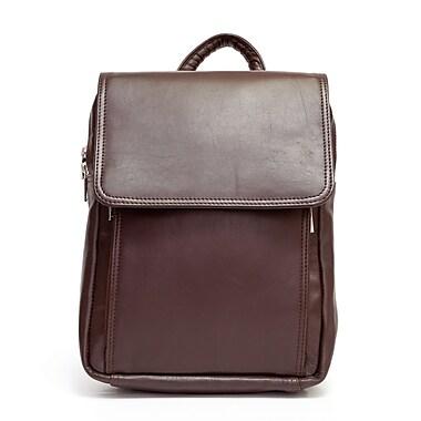 Ashlin® Sac à dos-sac à main avec organisateur avec fermeture à glissière, brun foncé