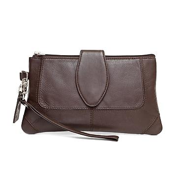 Ashlin® Natasha Mid Sized Wristlet, Dark Brown