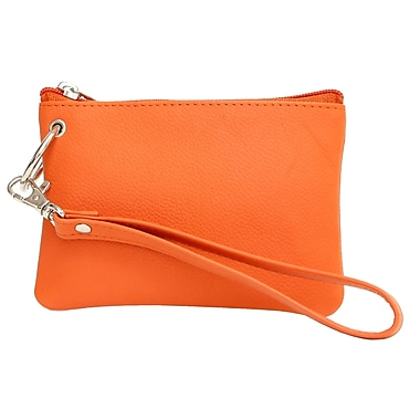 Ashlin® Agora Wristlet Wallet Pouch with Removable Short Strap, Orange