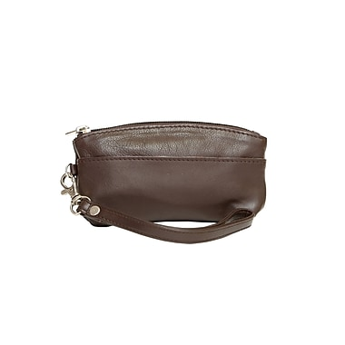 Ashlin® Genesia Soft Sided Wristlet with Side Strap, Dark Brown