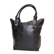 Ashlin® Candelora Ladies' Double Handle Leather Tote Bag, Black