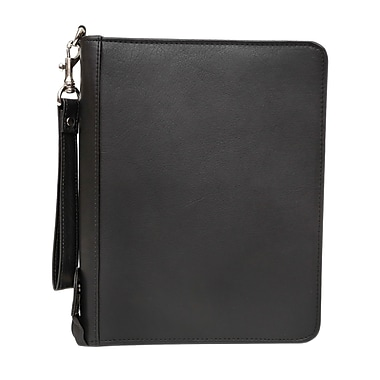 Ashlin® Lincoln Mid Sized Pro Zippered Agenda, Black