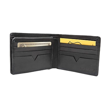 Ashlin® Dermot Rfid Blocking Men's Wallet with Flip-Up Section, Black