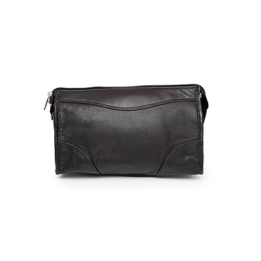 Ashlin® Carnegie Mid Sized Dopp Kit Shave Bag, Black