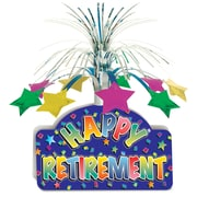 "Happy Retirement Centerpiece, 13"", 3/Pack"