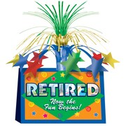 "Retired Now The Fun Begins! Centerpiece, 13"", 3/Pack"