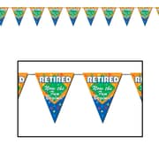 "Retired The Fun Begins! Pennant Banner, 10"" x 12', 4/Pack"