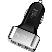 MOTA MT-USBCRB Highspeed 3-Port USB Car Charger, Black