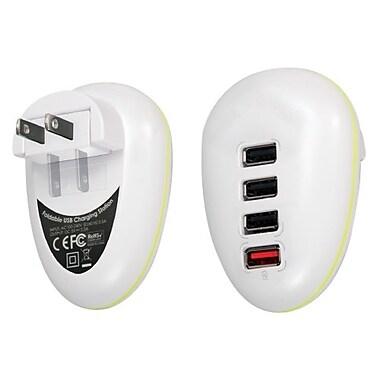 QVS USBAC-4P 4Port 2.5Amp USB Universal AC Charger with Folding Power Plug