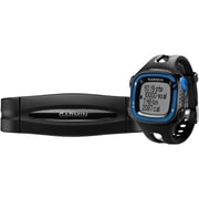 Garmin® Forerunner® 15 Large GPS Running Watch With Heart Rate Monitor, Blue/Black