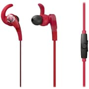 Audio-Technica® SonicFuel ATH-CKX7iS 360 deg Rotating Tip Headphone With Microphone, Red