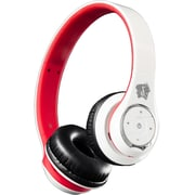 Life n soul BN301-WR Bluetooth HeadPhone, White/Red