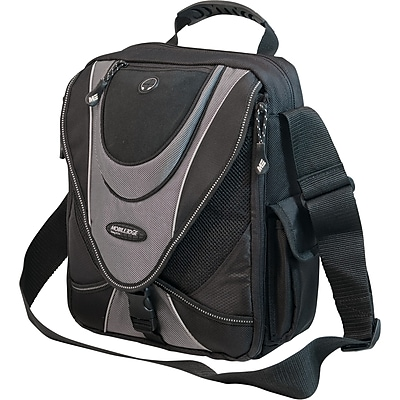 Mobile Edge MEMMS2 Mini Messenger Bag for 13.3 Laptops, Black/Silver (MEMMS2)