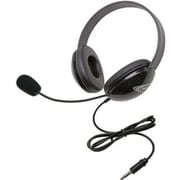 Califone 2800TBK Stereo Headset with To Go Plug, Black