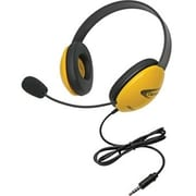Califone 2800-YLT Stereo Headset with To Go Plug, Yellow