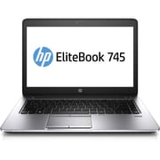 "HP 755 G2 EliteBook 755 15.6"" LED Backlit LCD AMD A8 500 GB HDD, 4 GB, Windows 7 Professional Laptop, Black/Gray"