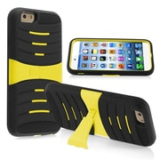 Insten® Hybrid Armor Case With Stand For iPhone 6, Black Skin/Yellow Hard