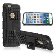 Insten® Hybrid Case With Stand For iPhone 6, Black TPU/Black Hard