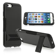 Insten® Hybrid Case With Stand For iPhone 6, Black Skin/Black Hard