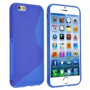 Insten® TPU Case For iPhone 6/6S, Clear Blue S Shape