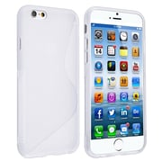 Insten® TPU Case For iPhone 6/6S, White S Shape