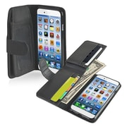 Insten® Wallet Leather Case For iPhone 6/6S, Black