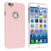 Insten® Snap-In Case For iPhone 6, Light Pink Sweet Heart Rear