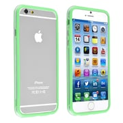 Insten® TPU Bumper Case With Aluminum Button For iPhone 6, Clear/Green