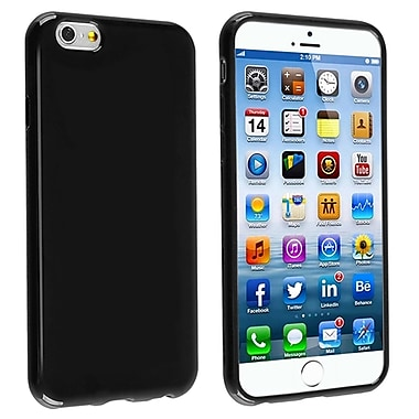 Insten® TPU Case For iPhone 6/6S, Black Jelly