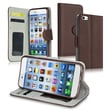 Insten® Stand Wallet Leather Case With Card Slot For iPhone 6, Brown