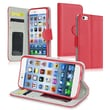 Insten® Stand Wallet Leather Case With Card Slot For iPhone 6, Red