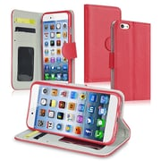 Insten® Stand Wallet Leather Case With Card Slot For iPhone 6/6S, Red
