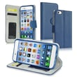 Insten® Stand Wallet Leather Case With Card Slot For iPhone 6, Navy Blue