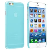 Insten® Snap-In Slim Case For iPhone 6, Clear Blue Rear