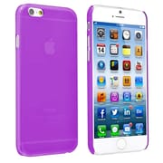 Insten® Snap-In Slim Case For iPhone 6,Clear Purple Rear