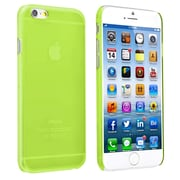 Insten® Snap-In Slim Case For iPhone 6, Clear Green Rear