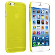 Insten® Snap-In Slim Case For iPhone 6, Clear Yellow Rear