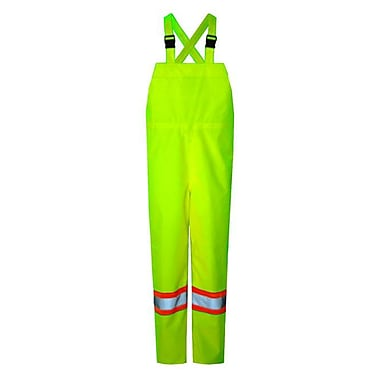Open Road 150D Hi-Viz Waterproof Safety Bib Pants, Fluorescent Green, 5X-Large