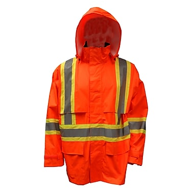 Viking Hi-Viz Safety Maxx 150D Waterproof Rain Jacket, Fluorescent Orange, Large