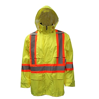 Viking Hi-Viz Safety Maxx 150D Waterproof Rain Jacket, Fluorescent Green, 3X-Large