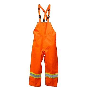 Viking Hi-Viz Safety Maxx 150D Waterproof Bib Pants, Fluorescent Orange, Large