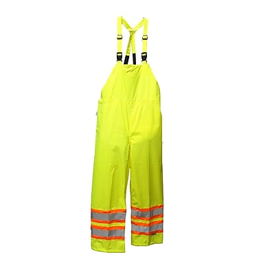 Viking Hi-Viz Safety Maxx 150D Waterproof Bib Pants, Fluorescent Green, 2X-Large