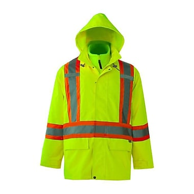 Viking Journeyman 300D Waterproof Safety 3-in-1 Jacket, Fluorescent Green, 4X-Large