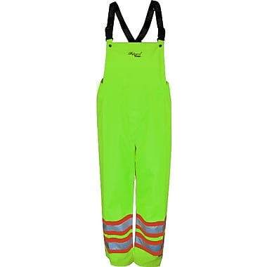 Viking Professional Arctic 300D Waterproof Insulated Safety Bib Pants, Fluorescent Green, Medium